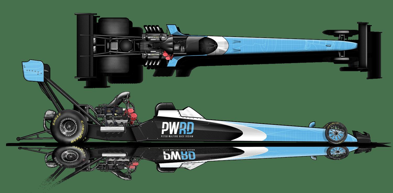PWRD Sponsorship Dragster